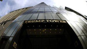 Около 50 человек протестовали у небоскрёба Трампа