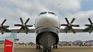 40-метровый четырехмоторный AG600 создан для борьбы с лесными пожарами и спасательных операций на море, а также для мониторинга в океане. Деталей по поводу первого полета не приводится