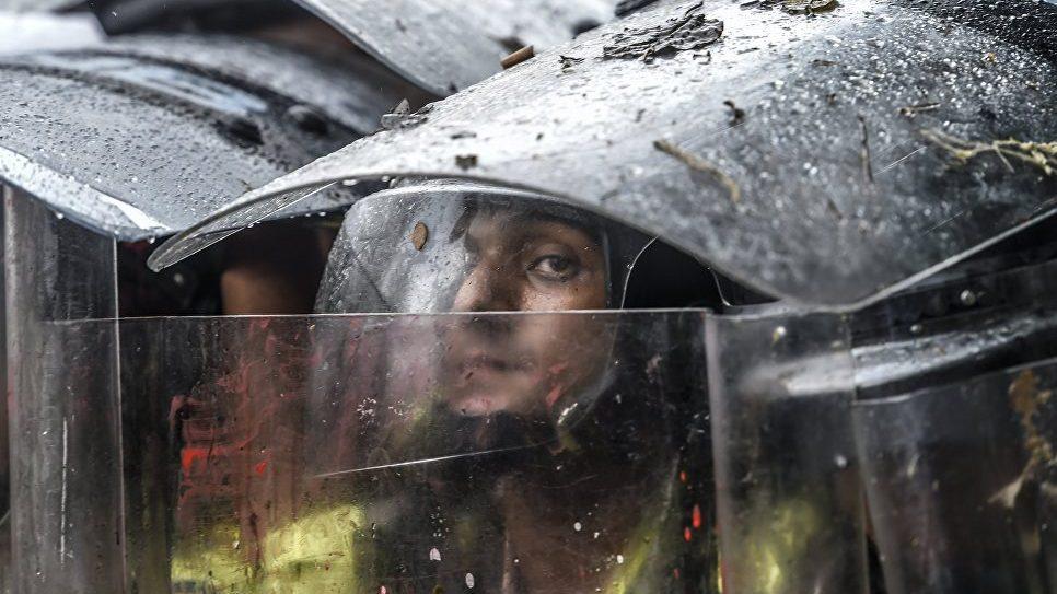 Протесты в венесуэльском штате
