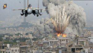 был нанесен удар по сирийской деревне