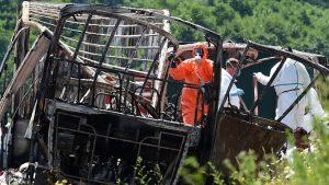 аварии туристического автобуса