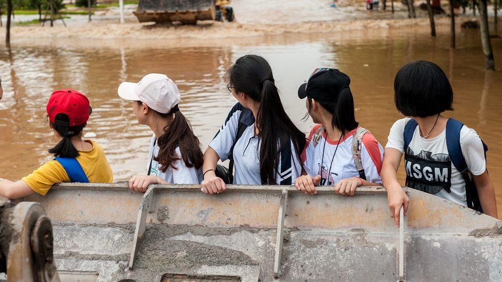 В зоне наводнения наводнения в провинции Хунань в Китае оказались 12 миллионов