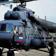 Российский вертолёт упал