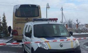 повреждён автобус