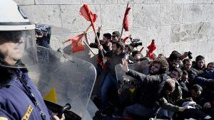 демонстрантов