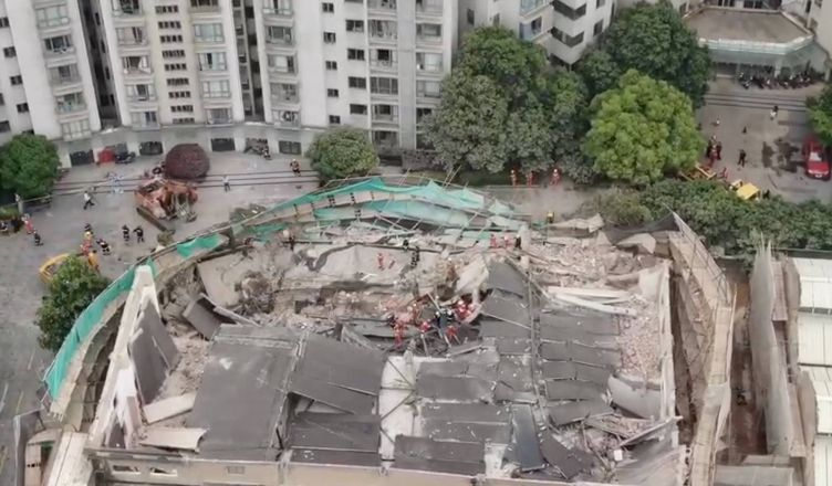 рухнуло здание