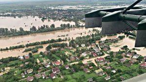 наводнением