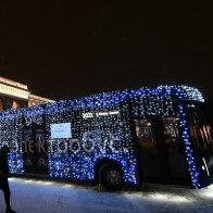 новогодний транспорт