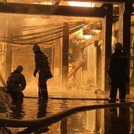 горел завод